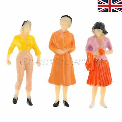 100X Model People Figures 1:75 For Train Railway Layout Scenery Painted UK STOCK