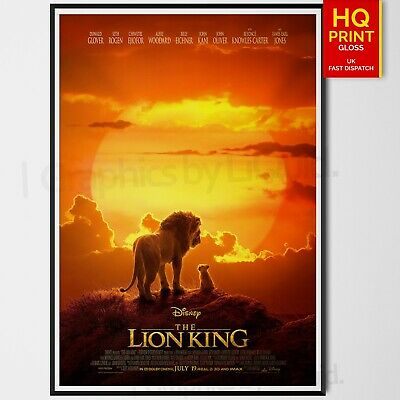 The Lion King Disney 2019 Adventure Movie Poster Art Film Print  | A4 A3 A2 A1 |