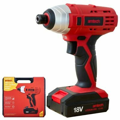 "18V 1/2"" Lithium 3Ah Li-Ion Cordless Impact Wrench Battery & Charger In Case At"