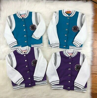 48851e446 LOT OF 4 Chillipop Youth Toddler Girls Hockey Varsity Bomber Jackets ...