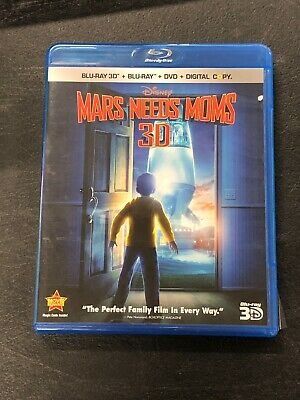 Pre-owned Disney Mars Needs Moms 3D Bluray DVD Set without Digital Copy