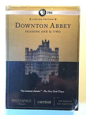Downton Abbey - Seasons One and Two (DVD, 2012, 6-Disc Set)  NEW and SEALED