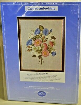 The Coleshill Collection Crewel Embroidery 408 Wild Roses, New! Made In England