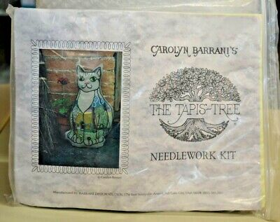 "Carolyn Barrani's The Tapis-Tree Needlework Kit Bds-C090P ""cottage Kitty"", 1999"