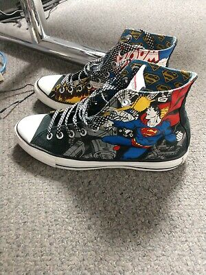 quality design 78da7 c33e1 Converse CT Hi DC Comics Superman Size 11 Women 9 Men Great Shape Rare Shoes
