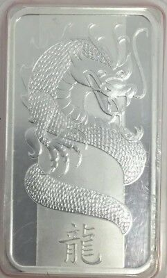 2012 PAMP Suisse Lunar Year of the Dragon 1 oz .999 Fine Silver Bar (In Assay)