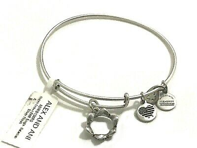 Alex And Ani Queen S Crown Charm Bangle Rafaelian Silver Bracelet New With Tag