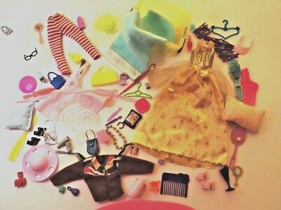 Shoes Bags CLOTHES & FASHION LOT of ACESSORIES over 75 pieces suits BARBIE Doll