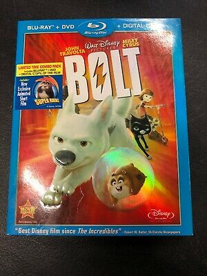 Disney Bolt Limited Time Combo Pack Bluray And DVD Only Without Digital Copy