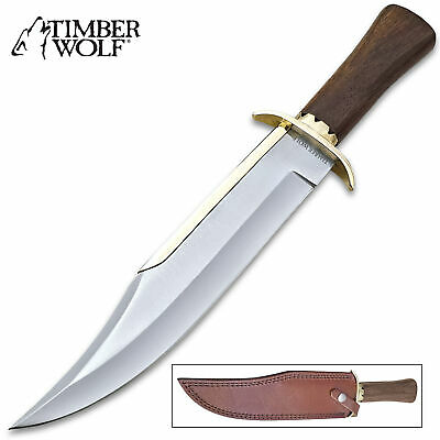 """15"""" Timber Wolf Ocean Raider STAINLESS STEEL FIXED BLADE BOWIE KNIFE w/sheath"""