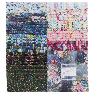 Quilting Fabric Layer Cake - Fleur Couture Digital Print - Rjr - Save $$$$$