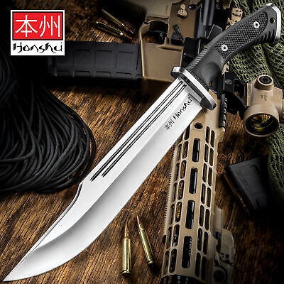 "16 1/2"" Honshu Conqueror 7Cr13 STAINLESS STEEL FIXED BLADE BOWIE KNFIE w/SHEATH"