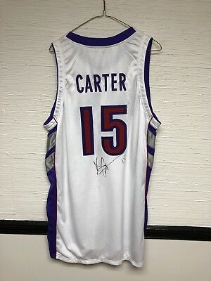 an3987 listing  VC Game Worn Used LOA 1999-2000 Toronto Raptors Jersey  Signed 52b3bdebe