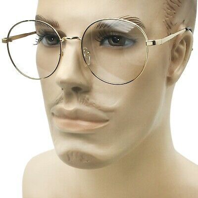 72308eb4bc Large Oversized Mens Womens Clear Lens Glasses Vintage Style Round Circle  Frame