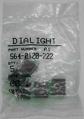 Lot of 5 Green LED's Dialight (564-0120-222)