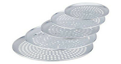 "Aluminium Pizza pans 10 inch 10"" size with holes perforated - Pack of 10"