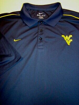 437ca4f6 NIKE Dri Fit West Virginia Mountaineers Polo Golf Shirt Men's XXL - Navy  Blue