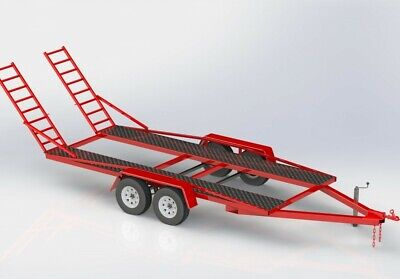 Build A Twin Axle  Car Trailer Metric Plans Free Postage