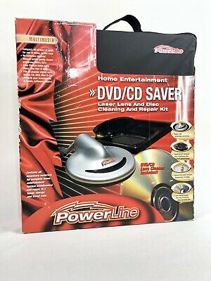 DVD/CD Laser Lens And Disc Cleaning And Repair Kit Powerline