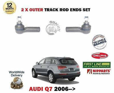 For Audi Q7 4L 2006-> 2X Outer Left + Right Steering Rack Track Tie Rod Ends Set