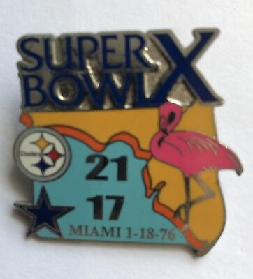 Pittsburgh Steelers Super Bowl X 10 Champions Pin vs Dallas Cowboys PSG