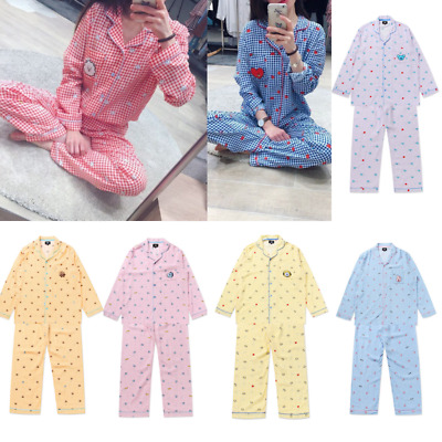 BTS BT21 Official Unisex Checks Pajamas Night Dress Sleepwear + Tracking Number
