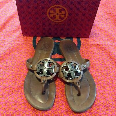 84654043d350 TORY BURCH NAVY Blue Pebbled Leather Miller Sandals Size 7 -  79.99 ...