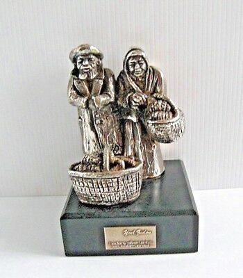 """REDUCED  Yoel Zidon Sterling Silver  """"Old Farm Couple"""" Limited Edition 21/125"""