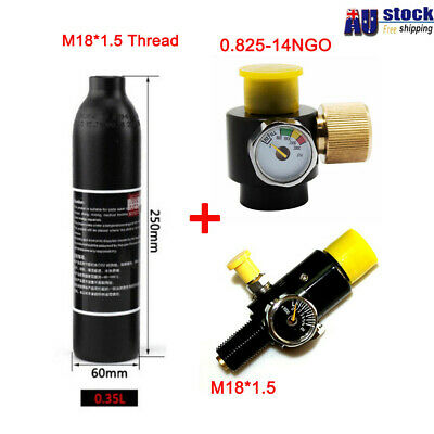 Paintball Regulator & Adjustable Valve With 0.35L Co2 Multifunctional Cylinder