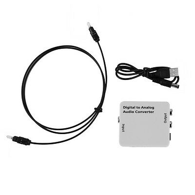 Digital Optical Toslink Coax to Analog R/L/RCA Audio Signal Converter Adapter RY