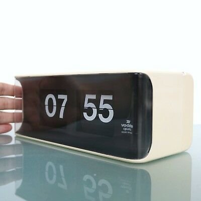 Vintage French VEDETTE Mantel AND/OR Wall FLIP CLOCK FLIPCLOCK Mid Century HUGE