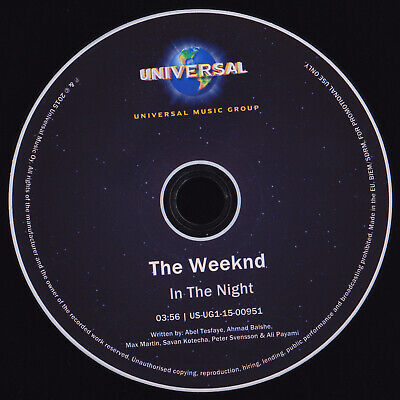 The Weeknd - In The Night - promo cdr FINLAND