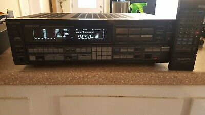 VINTAGE  KENWOOD  AM/FM STEREO RECEIVER Model KR-V95R W/ Remote WORKS!