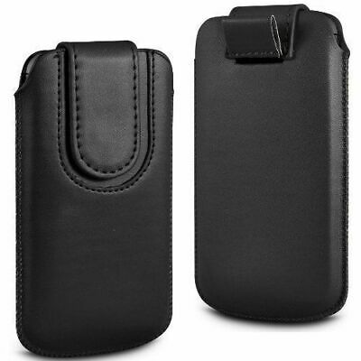 Magnetic PU Leather Pull Tab Flip Case Cover For Binatone M312 Big Button