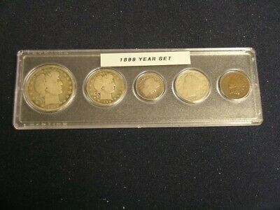 1899 Vintage Circulated Year Set - Nice 5-Coin Set