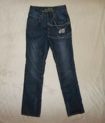 Gap Kids 1969 Sz 16 Slim Boys Military Prep Straight Fit Denim Jeans Pants