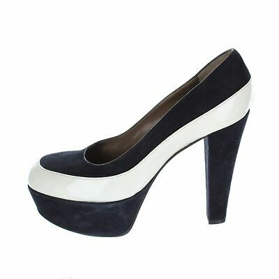 ea3f70d4bde772 MARNI Navy Suede Chaussures à talon, UK 6 US 8 EU 38
