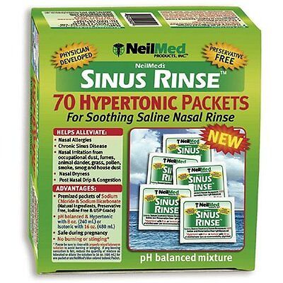 NeilMed Sinus Rinse Extra Strength Soothing Saline - 70 Packets