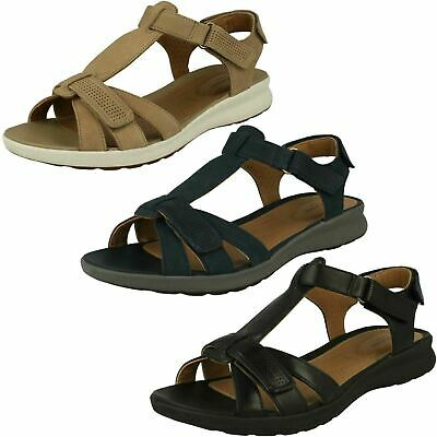 588256b0a25 Ladies Clarks  Un Adorn Vibe  Leather Casual Sandals - E Fitting