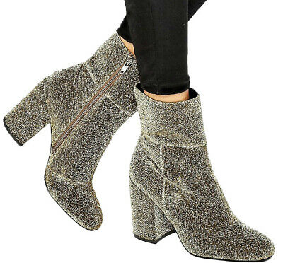 d9dd007dc1b STEVE MADDEN WOMENS Goldie Ankle Boot - New Without Box (Silver,6M)
