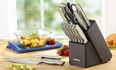 15 Piece Professional Artiste Collection Cutlery Knife Block Set Stainless Steel