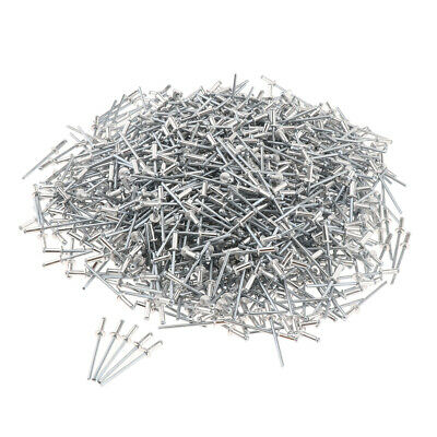 1000X 3mm POP RIVETS DOME HEAD OPEN TYPE BLIND Aluminum CHOOSE LENGTH