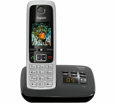Gigaset C430A Single Digital Cordless Home Phone with Answer Machine Silver