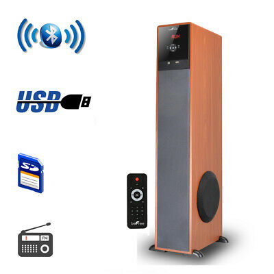 New beFree Sound Bluetooth  Tower Speaker - Wood