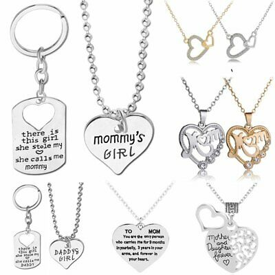 Women Lady Mom Pendant Necklace Key Chain Gift for Mother Daughter Grandmother