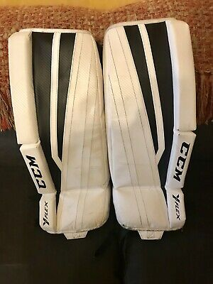 CCM YFLEX YOUTH Used Leg Pads Ice Hockey Goalie - 24 inch
