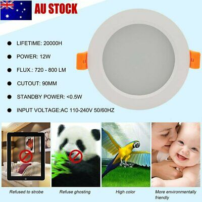 Smart LED Downlight 12W ZigBee Ceiling Light Voice Control For Alexa For Google