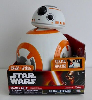 "Star Wars New Jakks Pacific 18"" Inch Big Figs Lights & Sounds Bb8 Droid Figure"