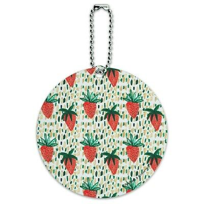 Berry Special Strawberries Round Luggage ID Tag Card Suitcase Carry-On