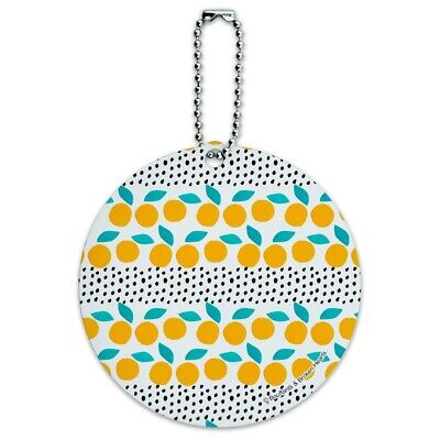 Citrus Dots Pattern Round Luggage ID Tag Card Suitcase Carry-On